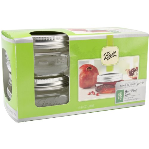 Ball Mason Wide Mouth Half Pint Jars - 8oz - 4 Jars Per Box -