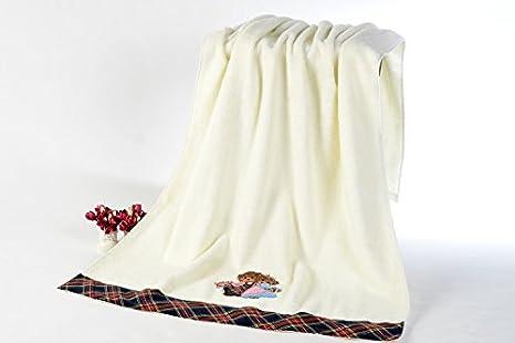 GGCCX Toalla toalla de baño Toallas De Algodón Bordado Del Oso Hemming , Yellow: Amazon.es: Hogar