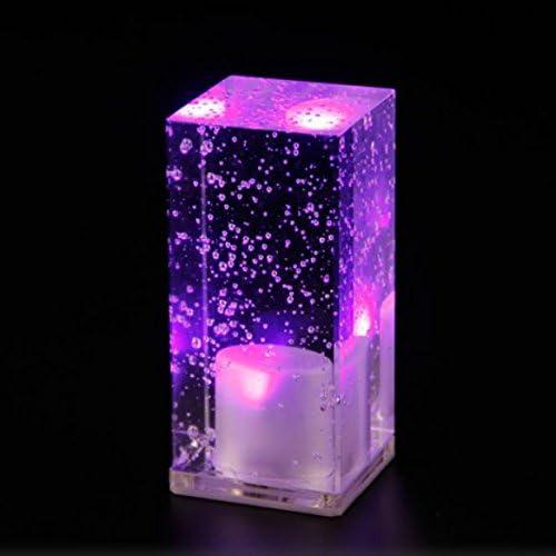WAYCOM recargables LED de burbujas cristales Mood Cube – Lámpara ...