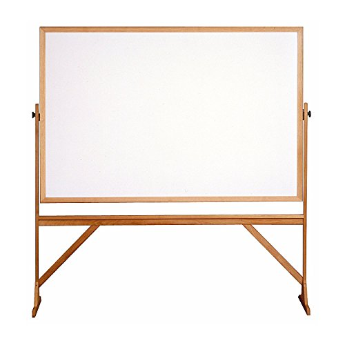 Ghent RMM46 Reversible Whiteboard with Wood Frame 4-Ft H x 6-Ft W ()