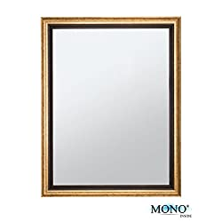 MONOINSIDE Framed Wall Mounted Rectangular Mirror, Antique & Classic Design, Plastic Frame with Vintage Bronze Finish, 17 x 13 Inches