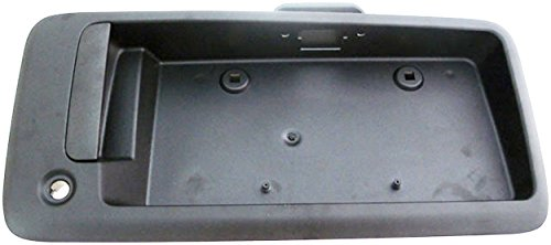 APDTY 112812 Exterior Rear Right Cargo Door Handle License Plate Bracket Holder Black Plastic Fits 1996-2015 Chevy Express or GMC Savana 1500 2500 3500 Van (Replaces 25989400, 15167638, 15269298)