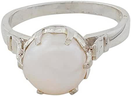 NOVICA Cream Cultured Freshwater Pearl .925 Silver Ring, 'Glowing Globe'