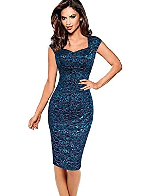 VfEmage Womens Sexy Elegant Summer Casual Party Cocktail Sheath Bodycon Dress