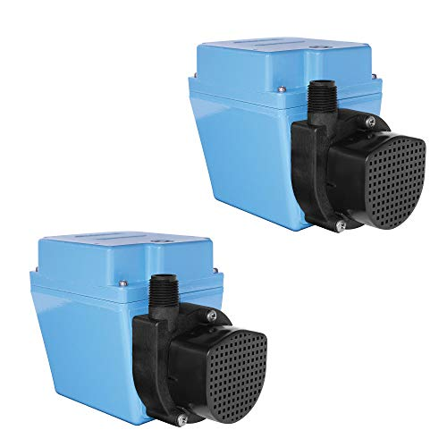 LITTLE GIANT 3E-34N 115V 60Hz 1/15 HP Dual Purpose Small Submersible Pump 503603 (2 Pack) ()