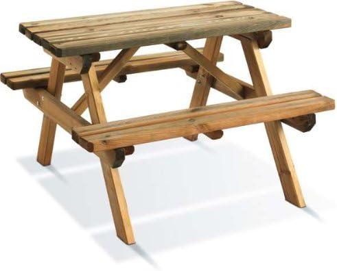 Mesa de picnic de madera para niños auréa: Amazon.es: Jardín