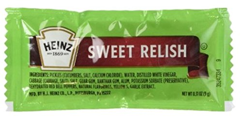 Heinz Sweet Relish Single Packs 50 Packs