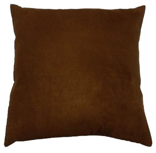 Faux Suede Throw Pillow Case Decorative Cushion Cover Zippered Euro Sham 22x22, Chocolate Suede Euro Sham Cover