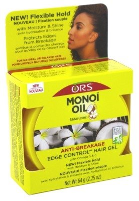 Ors Monoi Oil Anti-Breakage Edge Control Gel 2.25oz Jar