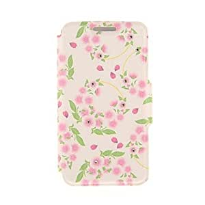 SHOUJIKE Kinston Pink Garlands Diamond Paste Pattern PU Leather Full Body Case with Stand for iPhone 6 Plus