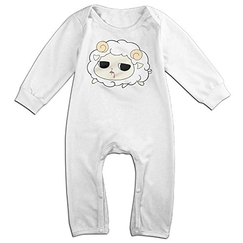 Silent Sheep Long Sleeve Outfits Jumpsuit For 0-24 Months White 18 (Collection Cashmere Baby Sweater)