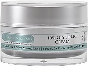Dr Lisa Benest Skin Care 10% Glycolic Acid Anti-Aging Face Cream 1.6 Ounce