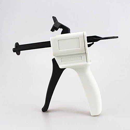 Airgoesin 4:1 / 10:1 Ratio Dental Impression Cartridge Mixing Universal Dispenser 50ml Mixing Dispensing Gun 135 Degree Autoclavable 1pc