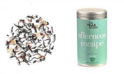 For Tea's Sake Afternoon Escape Black Tea 100g 3.5 Ounce Gluten (Afternoon Delight Tea)