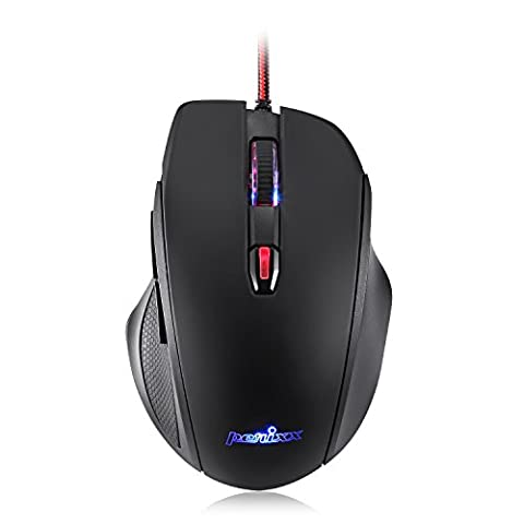 Perixx MX-1100 Programmable Gaming Mouse - Avago ADNS 3050 Optical sensor - 8 programmable buttons - Optical Sensor
