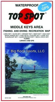 Top Spot N208 Map- Middle Key Long Key To Boca Chica Key LORAN-C & GPS