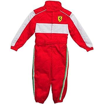 Ferrari F1 Racing Kinder Rennfahrer Anzug rot Official neu: Amazon ...