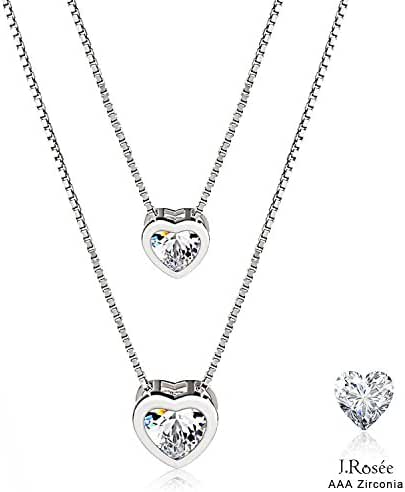 Jewelry Sterling Silver Pendant Necklace J.Rosée Love Hearts Necklace Mothers Day Gift