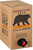 Wandering Bear Organic Cold Brew Coffee On Tap, Hazelnut, No Sugar, Always Fresh and Ready to Drink, Not a Concentrate, 96 fl oz