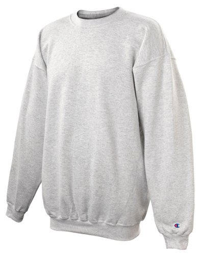 Plain Crewneck Sweatshirt (Champion Adult 50/50 Crewneck Sweatshirt, Ash - Size Large)
