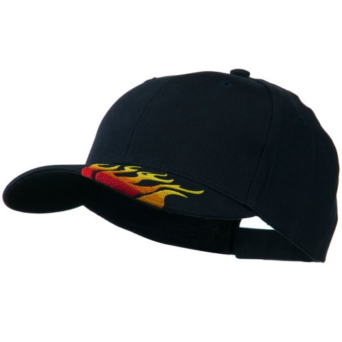 idered Flame Logo Cap - Navy OSFM (Brushed Cotton Logo Cap)
