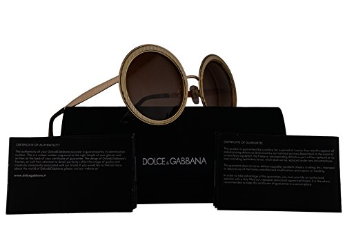 Dolce & Gabbana DG2179 Sunglasses Gold w/Brown Gradient Lens 54mm 0213 DG - Gabbana Com And Dolce