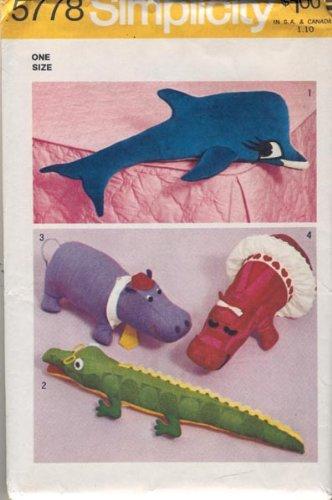 Amazon Com Simplicity 5778 Craft Sewing Pattern Stuffed Animals