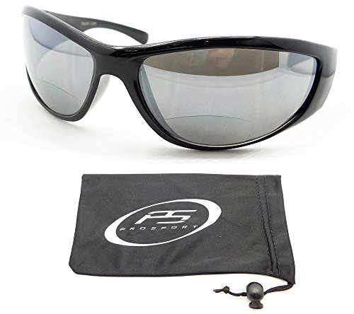 Bifocal Sunglasses 2.00 for Men. Great Motorcycle Riding, Golf, Cycling, Driving and All Sports Activites. Wrap Around Full Frame with Smoke Lenses. Free Microfiber Cleaning Case Included. Fits Medium Head - Riding Motorcycle Sunglasses Best