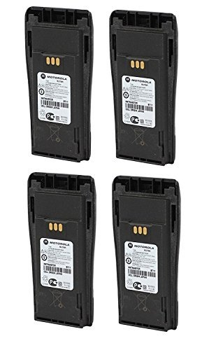 MOTOROLA OEM NNTN4497CR 4 Pack 7.2 Volts LI-ION 1.8Ah High Capacity Battery for Motorola CP-200 Walkie Talkie Original Motorola Battery NNTN4497