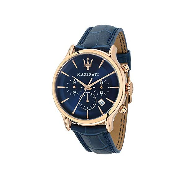 Orologio da uomo, Collezione Epoca, movimento al quarzo, cronografo, in acciaio, PVD oro rosa e cuoio - R8871618007 3