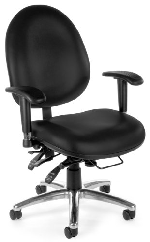 OFM 24/7 Vinyl Chair, Black by OFM