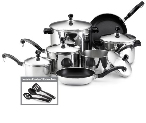Farberware Classic Stainless Steel 15-Piece Cookware Set by Farberware