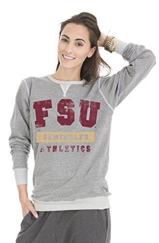 Venley NCAA Florida State Seminoles Colby Tri-Blend Crew Neck Sweatshirt, Small, Tri-Grey