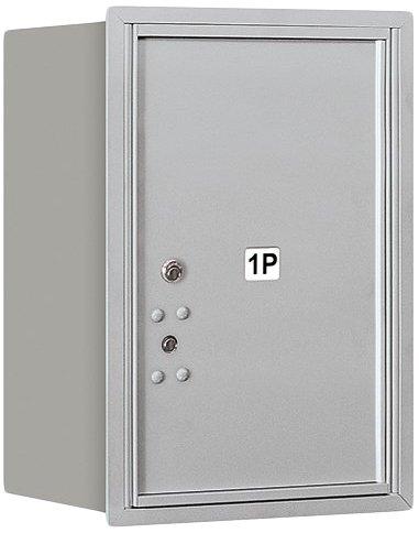 Salsbury Industries 3706S-1PARU Recessed Mounted 4C Parcel Locker Aluminum