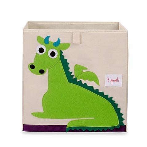New Fabric Cube Storage Bin Dragon