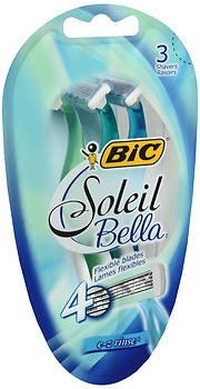 Bic Soleil Bella Shavers E-Z Rinse - 3 ct, Pack of 6