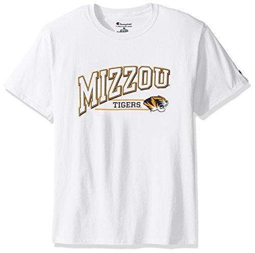 (NCAA Missouri Tigers Men's Champ Short Sleeve T-Shirt 4, X-Large, White)