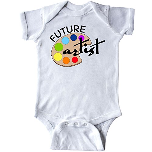 Artist Baby Onesie - inktastic Future Artist with Paints Infant Creeper 6 Months White