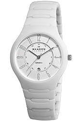 Skagen Women's 817LWXC Ceramic White Ceramic Watch