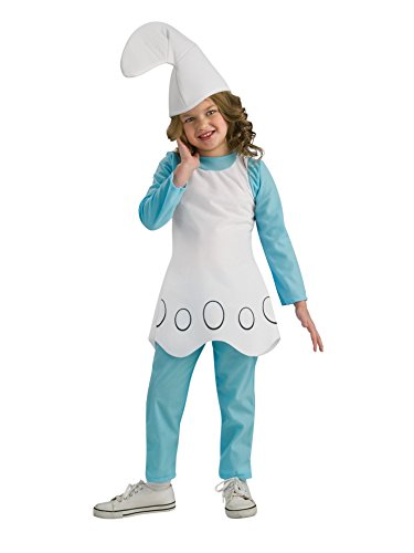 Child's The Smurfs Movie Smurfette Costume Girls Medium 8-10 -