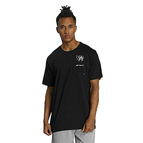 Nike Men's SB Dry Say Cheese Pocket Short Sleeve Shirt Tee (Medium, Black/White)
