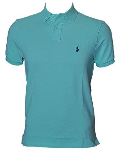 8c733a0f Galleon - Polo Ralph Lauren Men Custom Fit Mesh Pony Logo Shirt (XL,  LightGreen)
