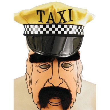 Adult STD- Yellow/Blk- N.Y. Taxi Driver Set
