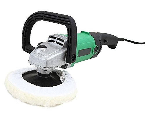 "7'' Electric Polisher, Waxer, Buffer - Automotive – 110 Volts, Rated Frequency 60Hz, Motor Power 1200 Watts, No Load Speed 600-3100RPM, Disc Diameter 180mm/7"", Safety Switch – By katzco"