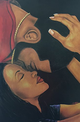 Bonded Romantic Couples  Fred Mathews 24x36 Unframed  African American Black Art Print Wall Decor Poster #USB2277 us9J4