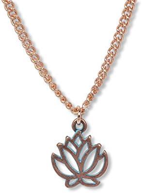 Anisch de la Cara Damen Kette Antique Roségold Lotus