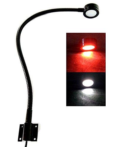 Marine 12v Led White/Red Light, 20 inch gooseneck arm, dimmable lamps, Flexible Reading Chart Light for Boat, Rv, Caravan Marine Reading Light