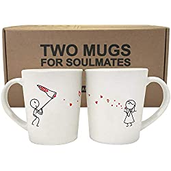 BOLDLOFT Catch My Love His and Hers Coffee Mugs-Matching Couple Mugs Set, Couples Gifts, Valentines Day Gifts for Boyfriend, Anniversary Gifts for Him, His and Hers Gifts, Boyfriend Gift Husband Gifts