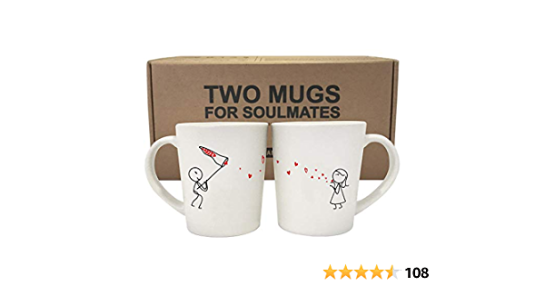 Boldloft Catch My Love Couples Coffee Mugs Gifts For Couples Boyfriend Husband Set Of 2 Coffee Cups Ceramic Amazon Ca Home Kitchen