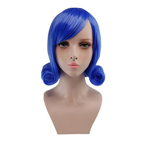 crazycatcos Juvia Lockser Cosplay Wig Blue Hair Fairy Tail Halloween Costume Wig